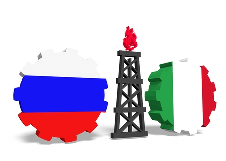 mine data: image relative to gas transit from russia to italy Stock Photo
