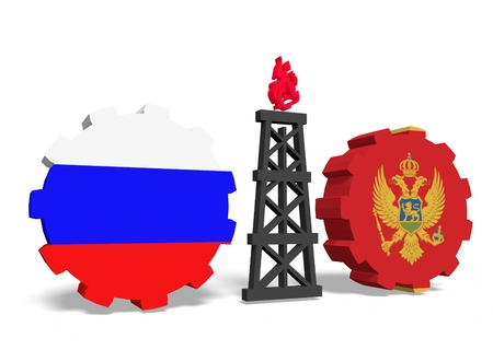 mine data: image relative to gas transit from russia to montenegro Stock Photo