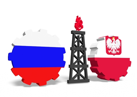 mine data: image relative to gas transit from russia to poland