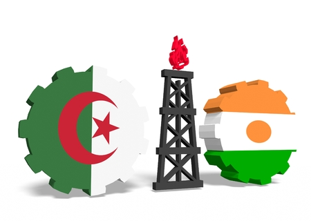 mine data: image relative to gas transit from algeria to niger Stock Photo