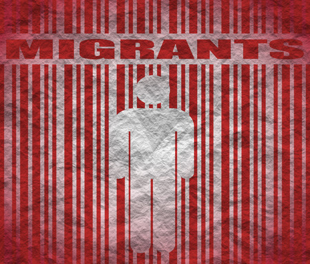 illegal immigrant: Image relative to migration from africa to european union Stock Photo