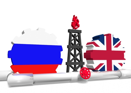 mine data: image relative to gas transit from russia to great britain