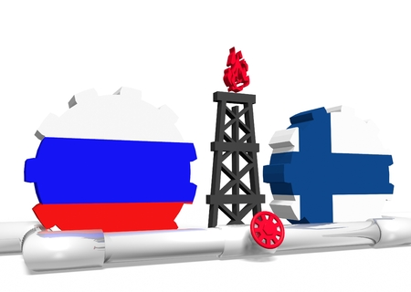 mine data: image relative to gas transit from russia to finland Stock Photo