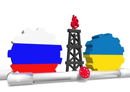 mine data: image relative to gas transit from russia to ukraine Stock Photo