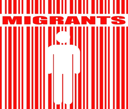 border patrol: Image relative to migration from africa to european union Illustration