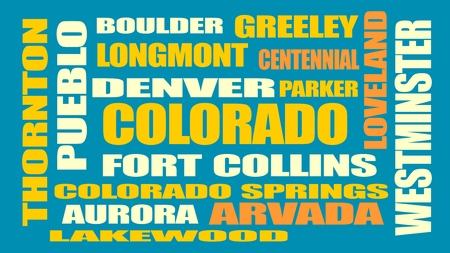 denver colorado: image relative to usa travel Illustration