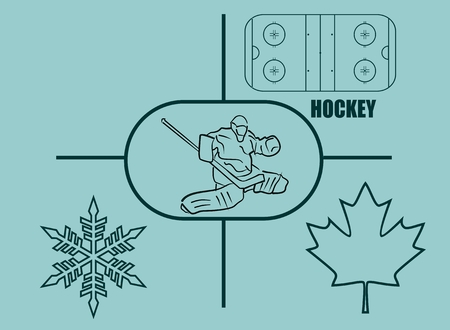 hockey: image relative to canada hockey Illustration