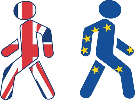 politic: imabe relative to politic situation between great britain and european union Illustration