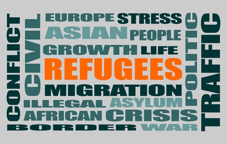 migraci�n: Image relative to migration from africa to european union Vectores