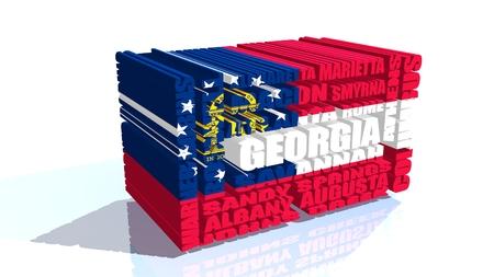 relative: image relative to usa travel. georgia state Stock Photo