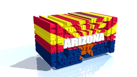 image relative to usa travel. Arizona state flag