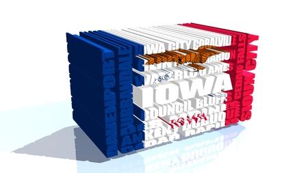 davenport: image relative to usa travel. iowa state