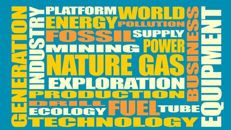 tags cloud: Nature gas relative tags cloud. Image relative to gas production and supply