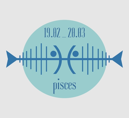 abstract zodiac: Abstract zodiac sign Pisces -The Fish. Unusual design. Illustration