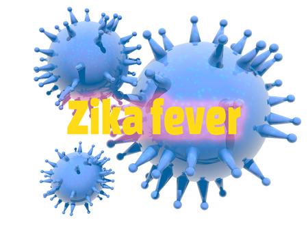 hematology: Abstract virus image on backdrop and zika fever text. Zika virus danger relative illustration