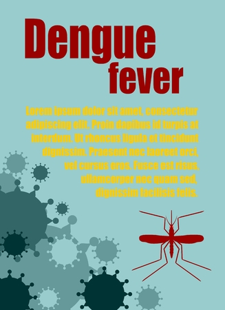 dengue fever: Modern vector brochure, report or flyer design template. Medical industry, biotechnology and biochemistry. Scientific medical designs.  Mosquito transmission diseases relative theme. Dengue fever