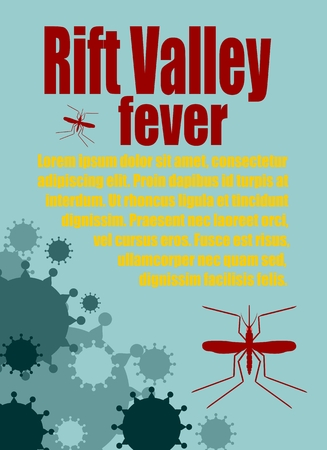 Modern vector brochure, report or flyer design template. Medical industry, biotechnology and biochemistry. Scientific medical designs.  Mosquito transmission diseases relative. Rift Valley fever
