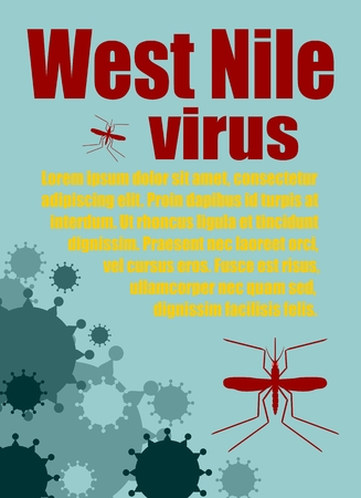 nile: Modern vector brochure, report or flyer design template. Medical industry, biotechnology and biochemistry. Scientific medical designs.  Mosquito transmission diseases relative. West Nile virus