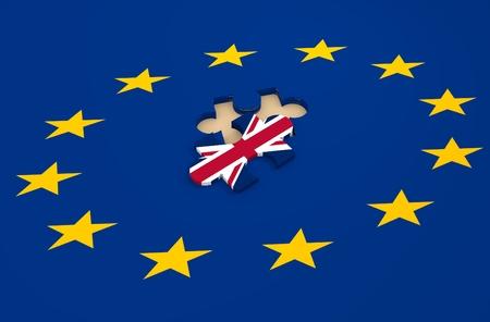 Imabe ten opzichte van politieke situatie tussen Groot-Brittannië en de Europese Unie. Politiek proces genoemd als brexit Stockfoto - 51905788