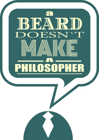 citing: Quote text bubble. Commas, note, message and comment. Design element similar to quote. Text, commas, quote and note. Motivation quote vector. A beard doesnt make a philosopher