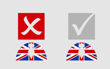area of conflict: United Kingdom exit from europe relative image. Brexit named politic process. Referendum theme