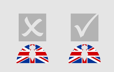 referendum: United Kingdom exit from europe relative image. Brexit named politic process. Referendum theme
