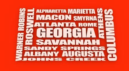 locations: image relative to usa travel. georgia locations