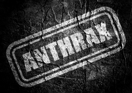 anthrax: Stamp with anthrax text over concrete textured background. Medical science relative theme