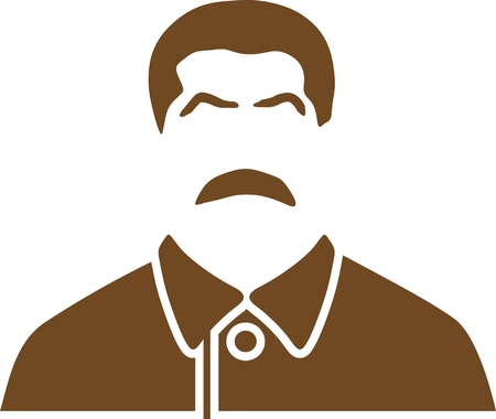 Vector portrait of Joseph Stalin. Soviet Union leader.
