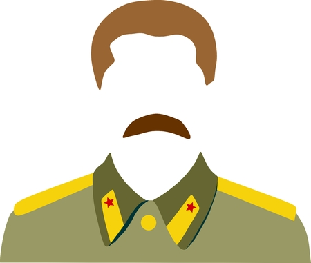soviet: Vector portrait of Joseph Stalin. Soviet Union leader.