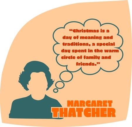 連合王国 CIRCA1985: マーガレット ・ サッチャー、英国首相。1979-1990 年からの総理大臣を務めました。様式化されたシンプルなフラット スタイルの肖  イラスト・ベクター素材