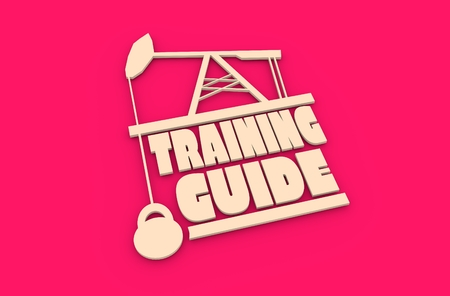 body building: Training guide text. Creative Typography Poster Concept. Letters and oil pump jack icons. Body building relative image