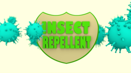 stop mosquito: Stop mosquito transmitted viral disease shield. Insect repellent anti virus protection. Disease prevention