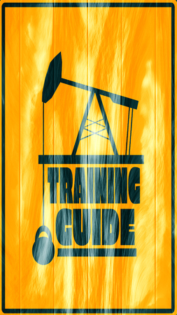 body building: Training guide text. Creative Typography Poster Concept. Letters and oil pump jack icons. Body building relative Stock Photo