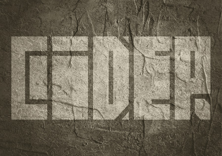 carribean: Drink alcohol beverage. Cider word lettering. Concrete textured