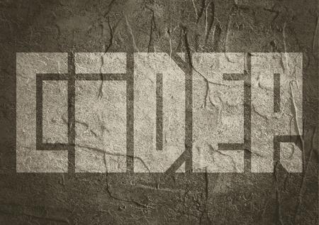 cider: Drink alcohol beverage. Cider word lettering. Concrete textured
