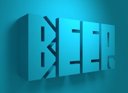 alphabet beer: Drink alcohol beverage. Beer word lettering. 3D rendering Stock Photo