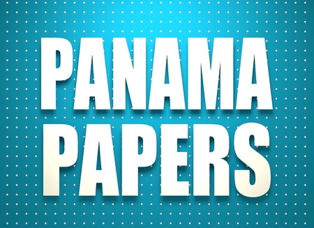 leaks: The panama papers leaks relative image. Politic and economic scandal event. 3D rendering Stock Photo