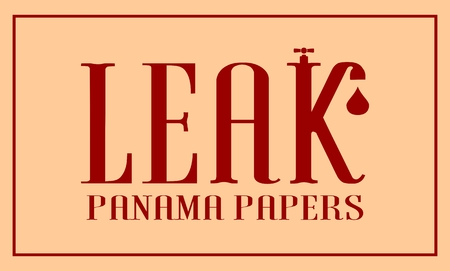 leaks: The panama papers leaks relative image. Politic and economic scandal event.