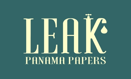 The panama papers leaks relative image. Politic and economic scandal event.