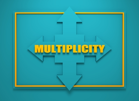 financial diversification: Arrow cross with multiplicity word. Way choosing metaphor. 3D rendering