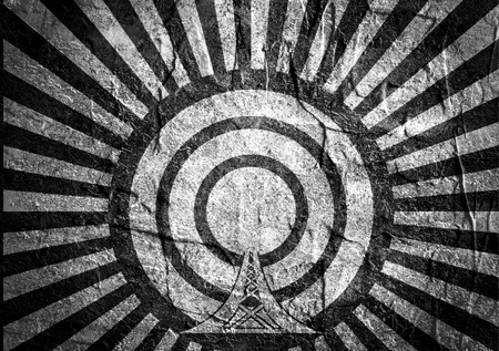 wireless hot spot: WiFi Network  Symbol . Mobile gadgets technology relative image. Concrete textured. Sun rays backdrop
