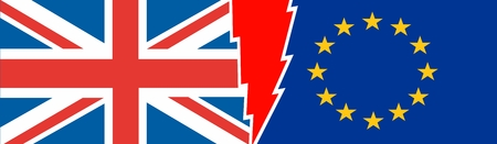 politic: Image relative to politic situation between great britain and european union. Politic process named as brexit