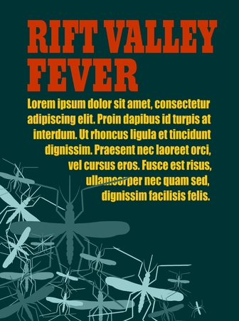 rift: Modern vector brochure, report or flyer design template. Medical industry, biotechnology and biochemistry. Scientific medical designs. Mosquito transmission diseases relative. Rift Valley fever