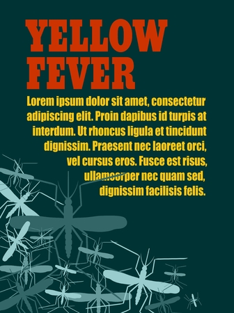yellow fever: Modern vector brochure, report or flyer design template. Medical industry, biotechnology and biochemistry. Scientific medical designs. Mosquito transmission diseases relative theme. Yellow fever