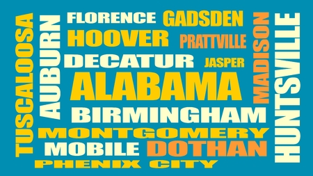 auburn: image relative to usa travel. alabama state cities list Illustration