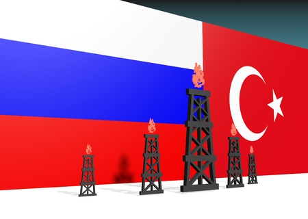 mine data: image relative to gas transit from russia to turkey. 3D rendering
