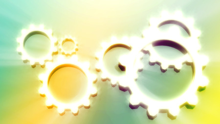 relative: Industry theme relative abstract background concept. Blurred gears