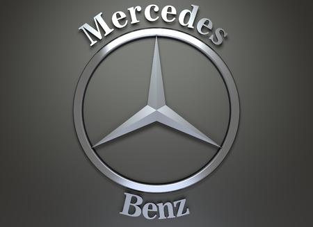 mercedes benz logo black background. mercedes emblem circa june 7 2016 benz on logo black background