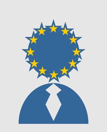 named: United Kingdom exit from europe relative image. Brexit named politic process. Referendum theme. Illustration